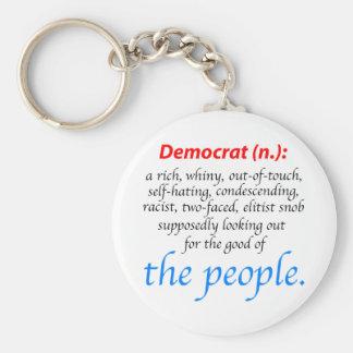 Democrat Definition Basic Round Button Keychain