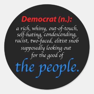 Democrat Definition Classic Round Sticker