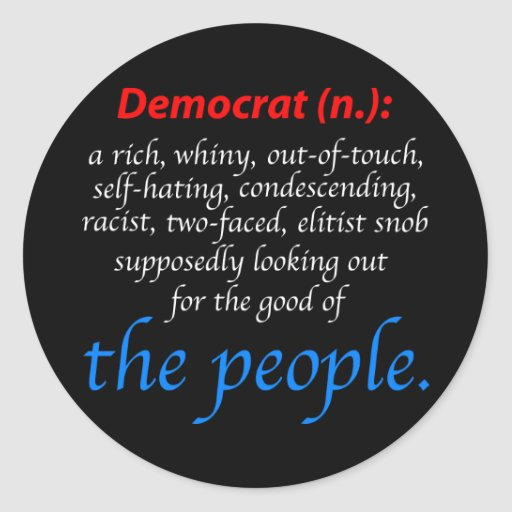 Democrat Definition Classic Round Sticker Zazzle