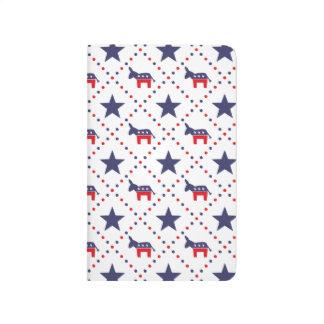 Democrat Diamond Pattern Journal