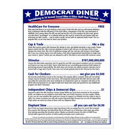 Democrat Diner Postcard