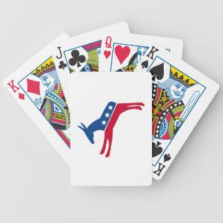 Democrat Donkey Bicycle Playing Cards