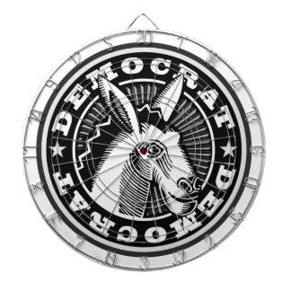 Democrat Donkey Black & White Dart Board