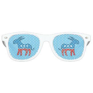 Democrat Donkey Blue Retro Sunglasses