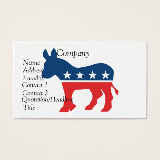 Democrat donkey business card
