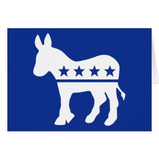 Democrat Donkey Card