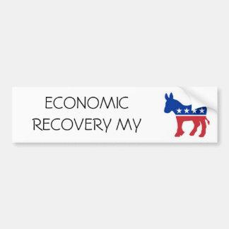 Democrat+Donkey, ECONOMIC RECOVERY MY Bumper Sticker