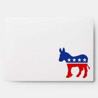 Democrat Donkey Envelope