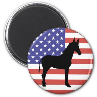 Democrat Donkey Flag Magnet