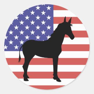 Democrat Donkey Flag Stickers