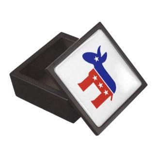 Democrat Donkey Gifts Premium Trinket Box