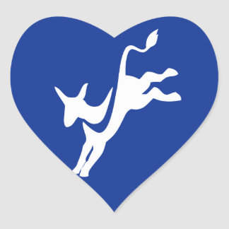 Democrat Donkey Heart Sticker