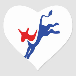 Democrat Donkey Heart Sticker