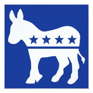 Democrat Donkey invitation