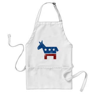 Democrat Donkey logo Adult Apron