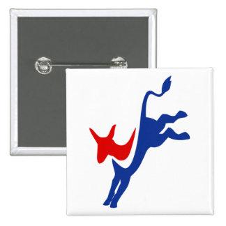 Democrat Donkey Logo Button