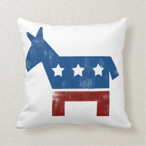 Democrat Donkey logo Throw Pillow