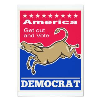 Democrat Donkey Mascot America Vote Custom Announcements