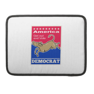 Democrat Donkey Mascot America Vote Sleeves For MacBook Pro