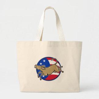 Democrat Donkey Mascot American Flag Bag
