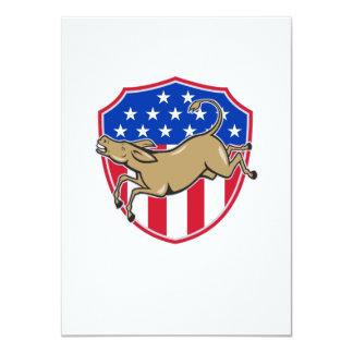Democrat Donkey Mascot American Flag Personalized Invites