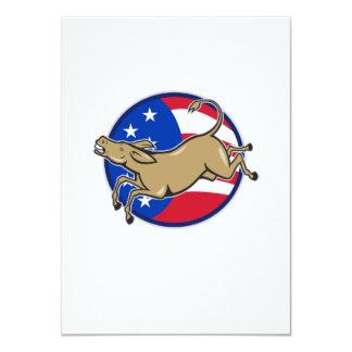 Democrat Donkey Mascot American Flag Invites