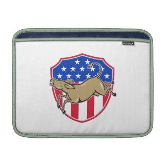 Democrat Donkey Mascot American Flag MacBook Air Sleeve