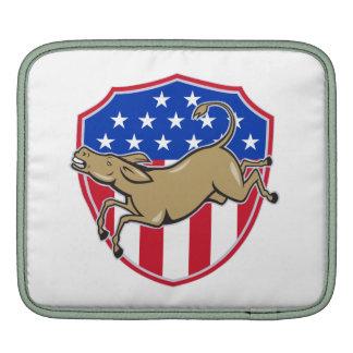 Democrat Donkey Mascot American Flag iPad Sleeve