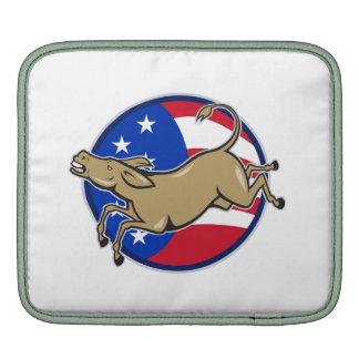 Democrat Donkey Mascot American Flag Sleeves For iPads