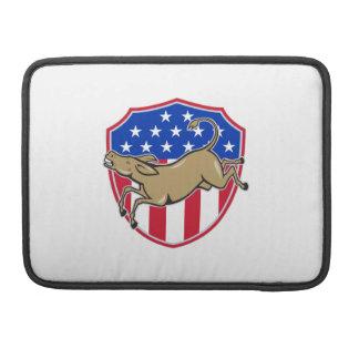 Democrat Donkey Mascot American Flag Sleeves For MacBook Pro