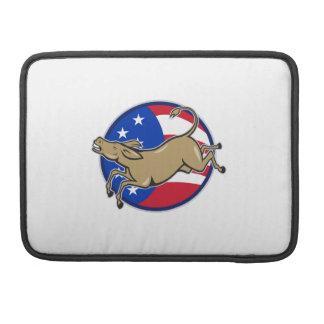 Democrat Donkey Mascot American Flag MacBook Pro Sleeve
