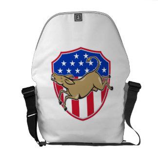 Democrat Donkey Mascot American Flag Commuter Bags