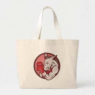 Democrat Donkey Mascot Boxer Boxing Retro Tote Bag