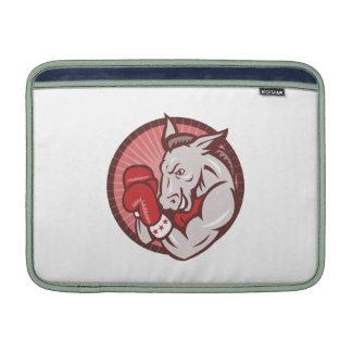 Democrat Donkey Mascot Boxer Boxing Retro MacBook Air Sleeve