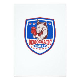 Democrat Donkey Mascot Boxer Shield Announcements