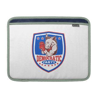 Democrat Donkey Mascot Boxer Shield MacBook Sleeves
