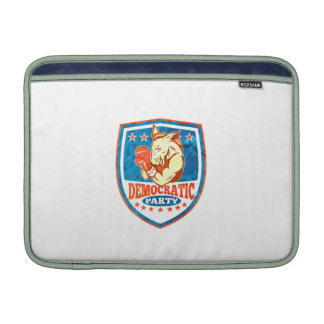Democrat Donkey Mascot Boxer Shield MacBook Air Sleeves