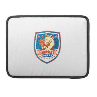 Democrat Donkey Mascot Boxer Shield Sleeve For MacBook Pro