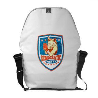 Democrat Donkey Mascot Boxer Shield Commuter Bag