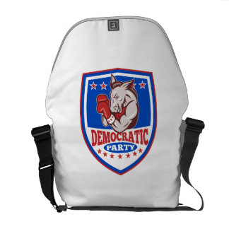 Democrat Donkey Mascot Boxer Shield Messenger Bag