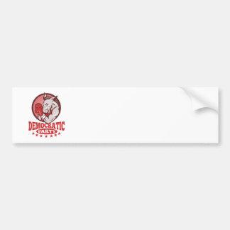 Democrat Donkey Mascot Boxing Bumper Sticker