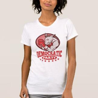 Democrat Donkey Mascot Boxing T Shirt