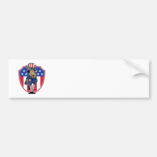 Democrat Donkey Mascot Thumbs Up Flag Bumper Stickers