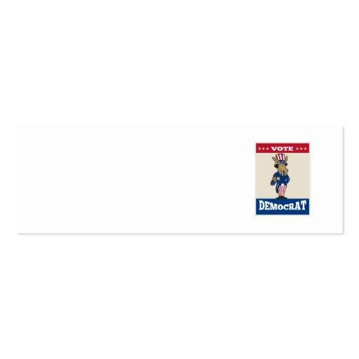 Democrat Donkey Mascot Thumbs Up Flag Business Card