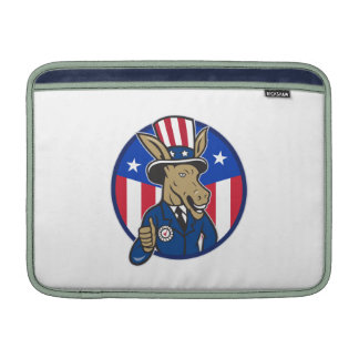 Democrat Donkey Mascot Thumbs Up Flag MacBook Air Sleeve