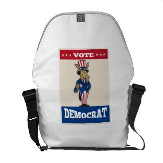 Democrat Donkey Mascot Thumbs Up Flag Courier Bag