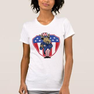 Democrat Donkey Mascot Thumbs Up Flag T Shirt