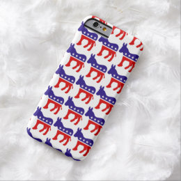 Democrat Donkey Pattern Barely There iPhone 6 Case