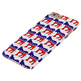 Democrat Donkey Pattern Barely There iPhone 6 Plus Case