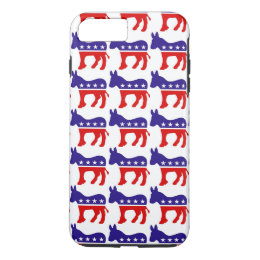 Democrat Donkey Pattern iPhone 8 Plus/7 Plus Case
